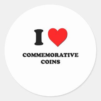 I love Commemorative Coins Stickers