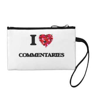 I love Commentaries Coin Purses