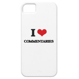 I love Commentaries iPhone 5 Case