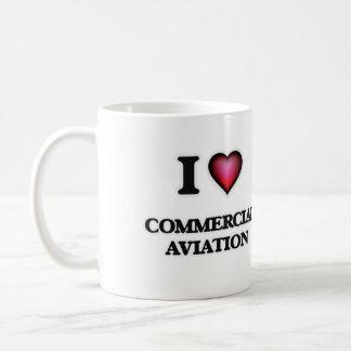 I Love Commercial Aviation Coffee Mug