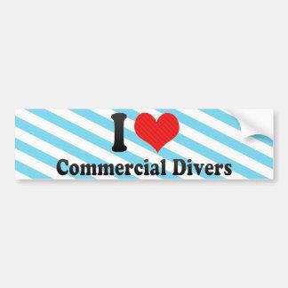 I Love Commercial Divers Bumper Sticker
