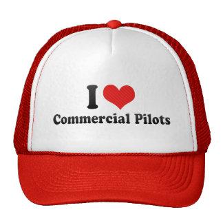 I Love Commercial Pilots Hats