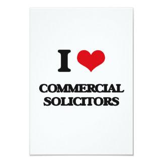 I love Commercial Solicitors 3.5x5 Paper Invitation Card