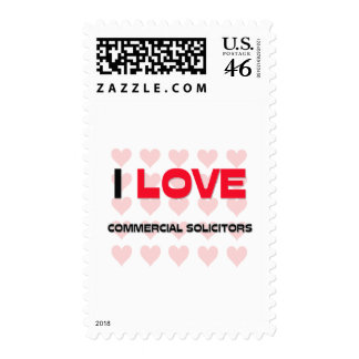 I LOVE COMMERCIAL SOLICITORS POSTAGE STAMP
