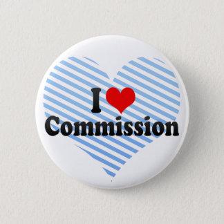 I Love Commission Pinback Button