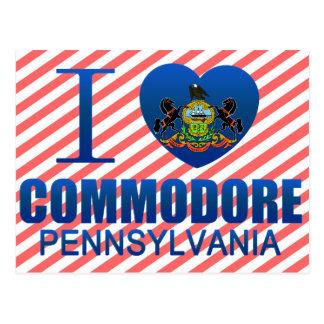 I Love Commodore, PA Postcard