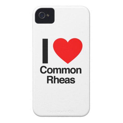 i love common rheas Case-Mate iPhone 4 case