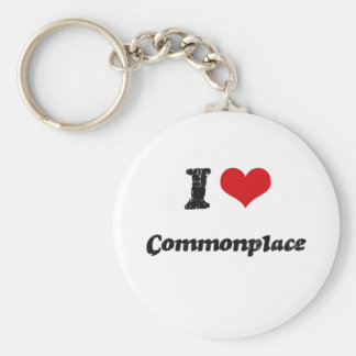 I love Commonplace Key Chain