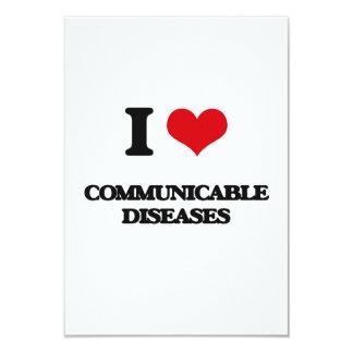 I love Communicable Diseases Invitation