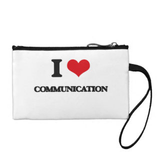 I love Communication Coin Purses