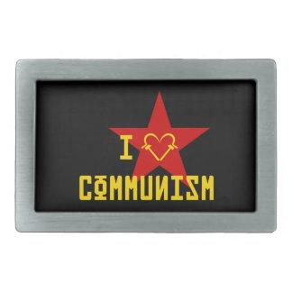 I Love Communism Rectangular Belt Buckle