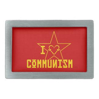 I Love Communism Rectangular Belt Buckles