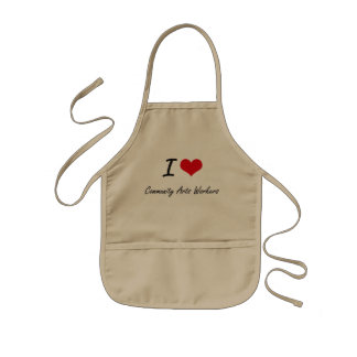 I love Community Arts Workers Kids' Apron