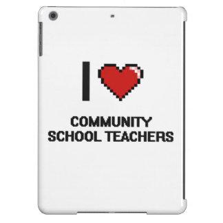 I love Community School Teachers iPad Air Case
