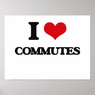 I love Commutes Print