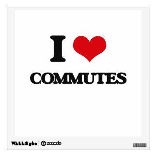 I love Commutes Wall Skin