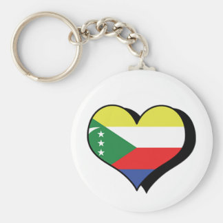 I Love Comoros Keychain