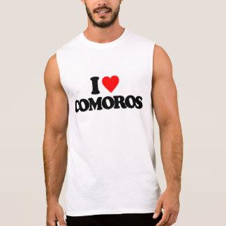 I LOVE COMOROS SLEEVELESS TEES