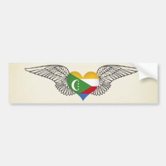 I Love Comoros -wings Bumper Sticker
