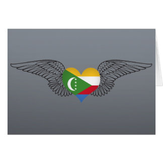 I Love Comoros -wings Cards