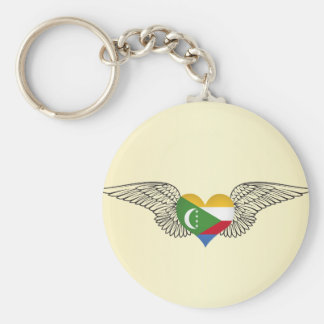 I Love Comoros -wings Keychains