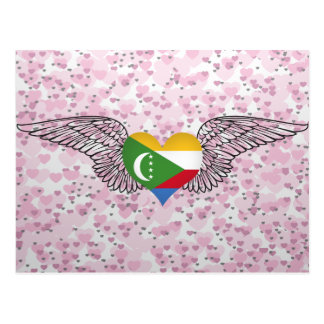 I Love Comoros -wings Postcards