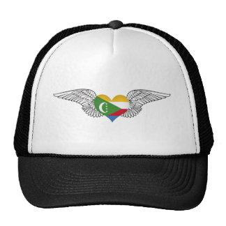 I Love Comoros -wings Trucker Hats