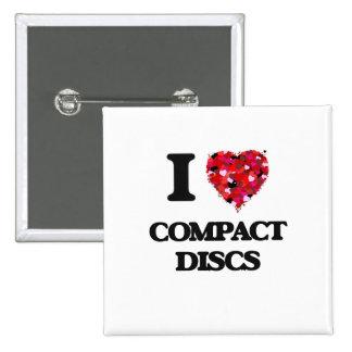 I love Compact Discs 2 Inch Square Button