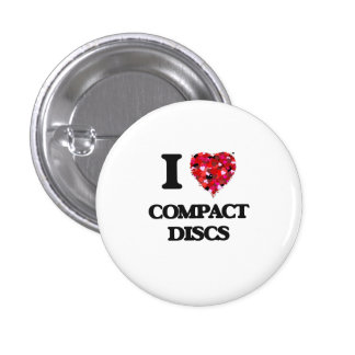 I love Compact Discs 1 Inch Round Button