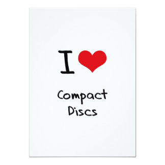 I love Compact Discs Cards