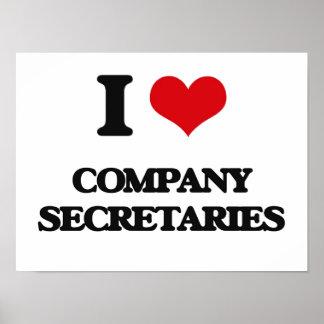 I love Company Secretaries Poster