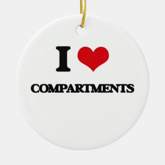 I love Compartments Double-Sided Ceramic Round Christmas Ornament