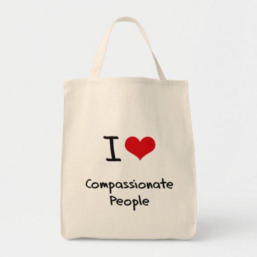 I love Compassionate People Canvas Bag