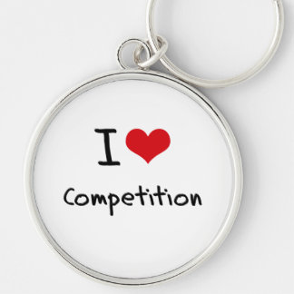 I love Competition Keychain