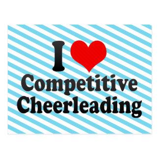 I love Competitive Cheerleading Postcard