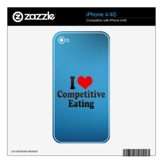 I love Competitive Eating iPhone 4S Decal