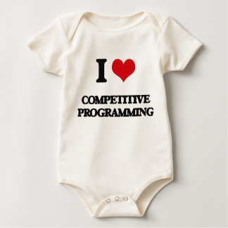 I Love Competitive Programming Baby Bodysuit