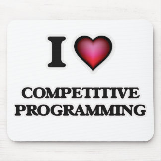 I Love Competitive Programming Mouse Pad