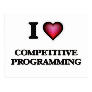 I Love Competitive Programming Postcard