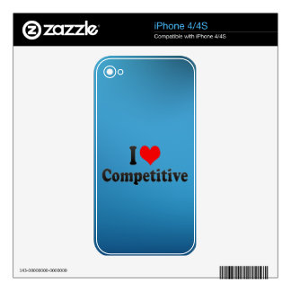 I love Competitive iPhone 4 Skin