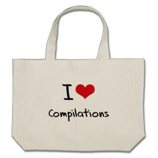 I love Compilations Tote Bag