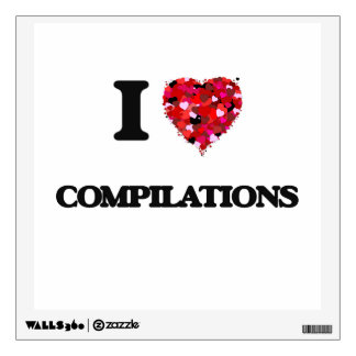 I love Compilations Wall Skin