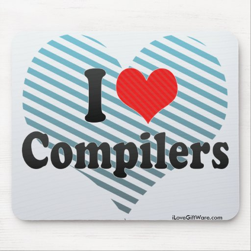 I Love Compilers Mouse Pad