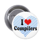 I Love Compilers Pinback Button