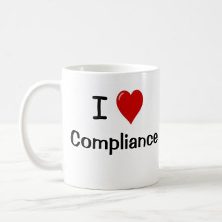 I Love Compliance and Compliance Heart Me Classic White Coffee Mug