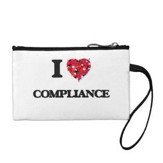 I Love Compliance Change Purses