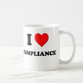 I love Compliance Classic White Coffee Mug