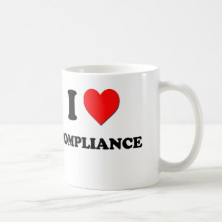 I Love Compliance Coffee Mugs