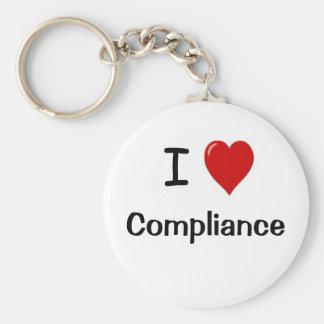 I Love Compliance I Heart Compliance Keychain