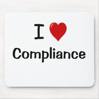 I Love Compliance I Heart Compliance Mouse Pad